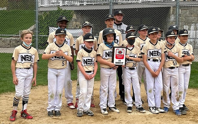The North East Baseball New Hampshire 11-year-old team went 3-1 and placed second at last weekend's New Balance Select Mother's Day Tournament in Methuen, Mass. Members of the team include James Haugh (Brentwood), Connor Desmarais (Eliot, Maine), Brendan Conlin (Durham), Jimmy Pantano (Atkinson), James Saunders (Madbury), Luke Dyer (Atkinson), Finn Mussulman (Rye), Robert Fellows (Plaistow), Finnegan McCauley (Greenland), Jackson LaFleur (Portsmouth), Jack McElroy (Portsmouth), Cal O'Brien (Lee), Benjamin Riccio (Exeter), Jackson Handwork (Durham) and Beckett Farrand (East Kingston).