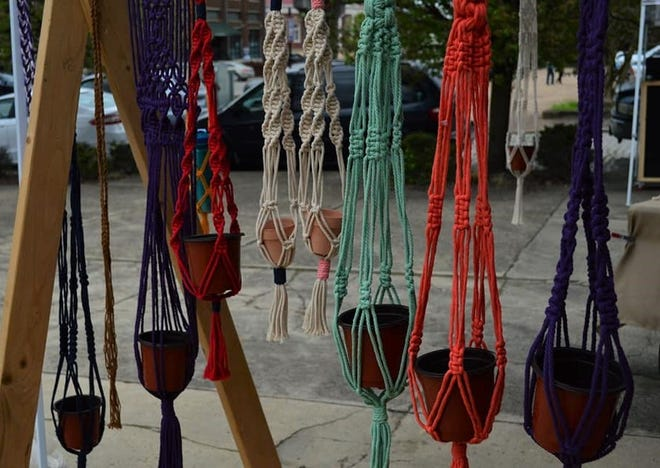 Macramé featured at the 7Moons Artisan Market in Old Towne Petersburg on April 9, 2021.