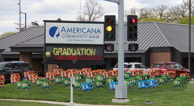 AmericanaCommunity Bank lawn