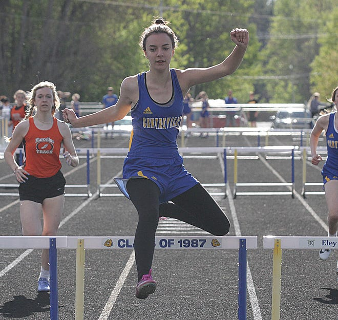 Grace Nighswonger of Centreville is ranked third overall for the county honor roll in the 300 hurdles.