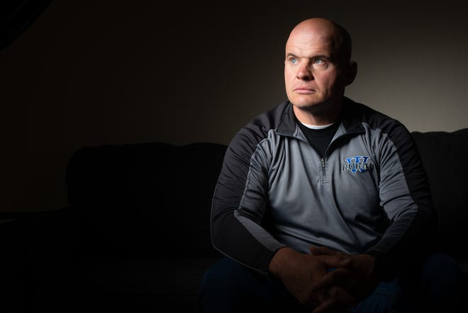 Damon Parker, longtime boys wrestling coach for Washburn Rural, has long fought his own self with thoughts of depression and mental illness. In March, he resigned as Rural's boys coach to fight that battle and share it with others who may be doing the same.