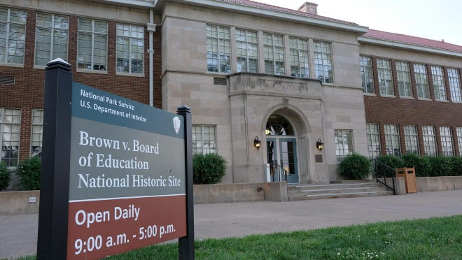 A Zoom program Monday will focus on court cases that served as predecessors to the Supreme Court's historic 1954 ruling in the case of Brown v. Board of Education. That case is the focus of the Brown v. Board of Education National Historic Site, shown here at 1515 S.W. Tyler.