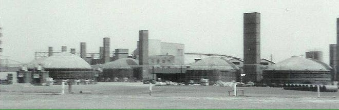 The Pomona Terra Cotta Plant is seen prior to the accident that destroyed it. The plant sustained a largely Black company town in Greensboro.