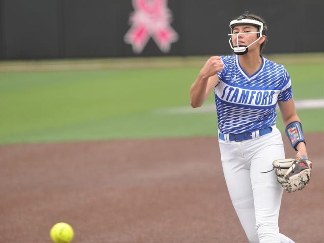 Stamford pitcher Citlaly Gutierrez has allowed eight hits total in five playoff games. The junior has thrown no-hitters in her last two games and one-hitters in two other postseason games.
