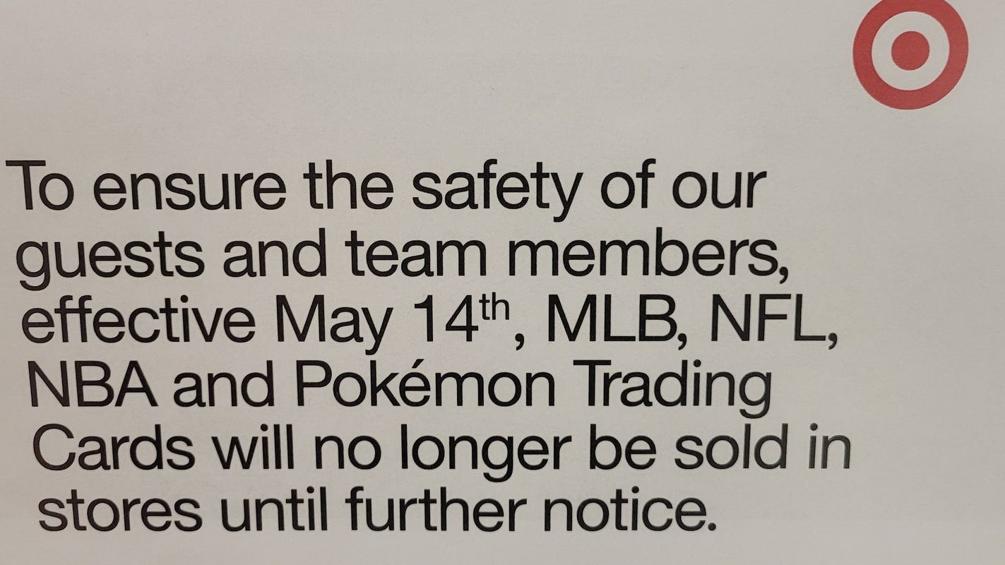 Guest TML: Target removing trading cards indefinitely from stores stinks for collectors
