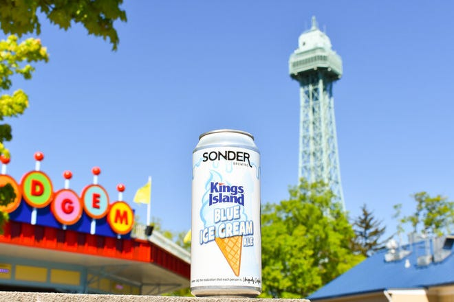 Kings Island Blue Ice Cream Ale is the newest collaboration from Mason-based Kings Island and Sonder Brewing.