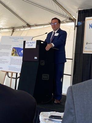 Cincinnati Mayor John Cranley at the groundbreaking for the city's new solar array, May 13, 2021