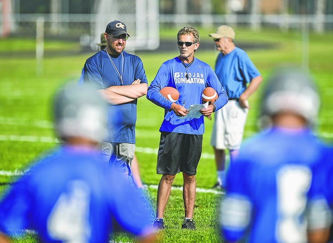 Green Bay Southwest football co-coaches Patrick Wallace, left, and Tim Birr, right, have stepped down after eight seasons.