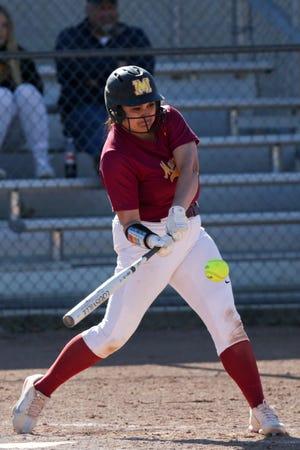 McCutcheon's Clarissa Johnson (22) swings during the third inning of an IHSAA softball game, Wednesday, May 12, 2021 in Lafayette.