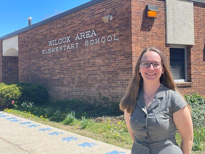 Leah Porter, a kindergarten teacher at Wilcox Elementary in Holt, was named Michigan Teacher of the Year Thursday.