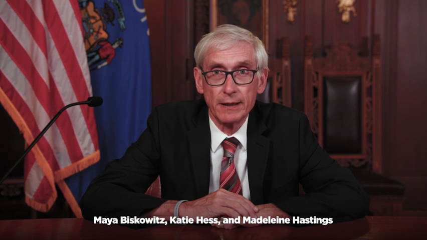 Wisconsin Governor Tony Evers Congratulates Whitefish Bay High School Students