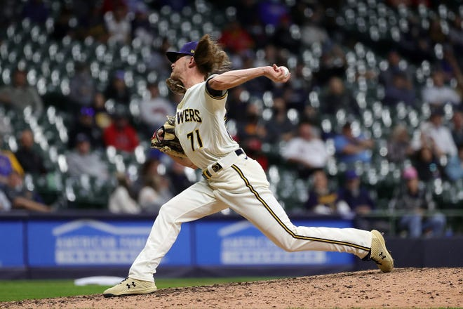 Closer  Josh Hader pitches the ninth inning.