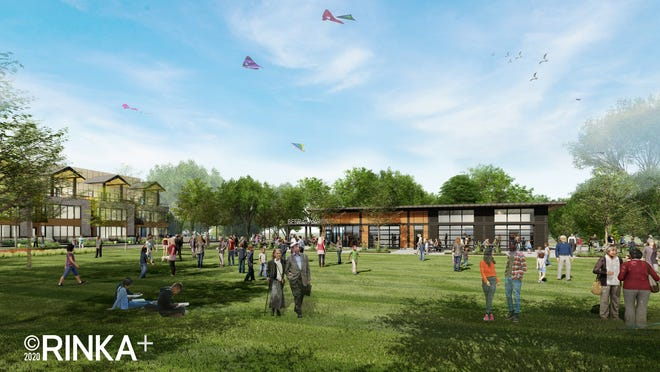 The community space at Greenlink Residences will offer a shared area for family activities, a space for the Brown Deer Farmers Market and more.