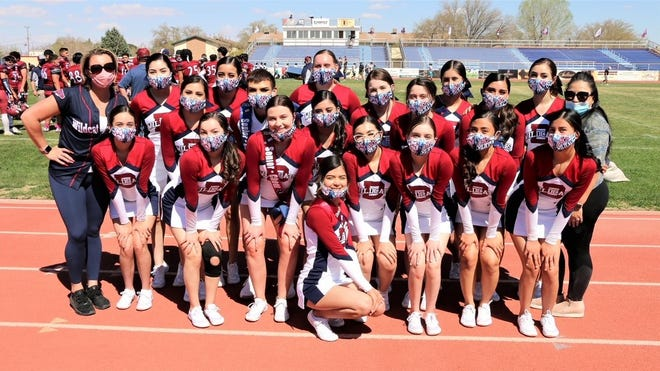 """The Deming High Wildcat Cheer Team will perform today in """"The Pit"""" for a state championship."""