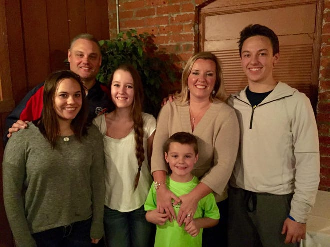 Don Mifsud, with his family, daughters Katy and Ashlyn, wife Dawn, and sons, Donny and Drew.