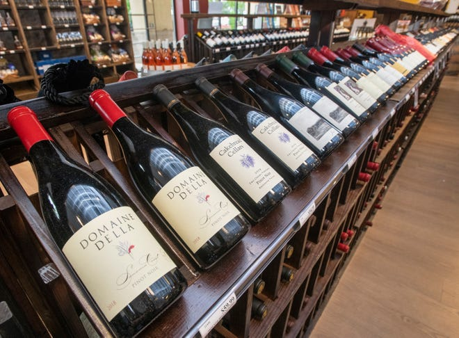 A selection of wines available at the newly opened Wine World at 4970 Bayou Boulevard in Pensacola on Wednesday, May 12, 2021.