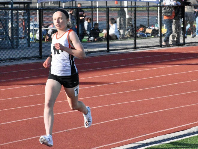 Northeastern High senior Margaret Carroll won the girls' 3200-meter run title at the York-Adams League Championships on Wednesday. Carroll broke the event record with a time of 10:35.03.