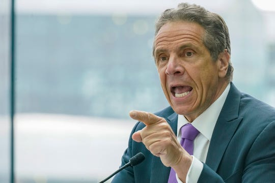 New York Gov. Andrew Cuomo speaks during a news conference, Tuesday, May 11, 2021, in New York.
