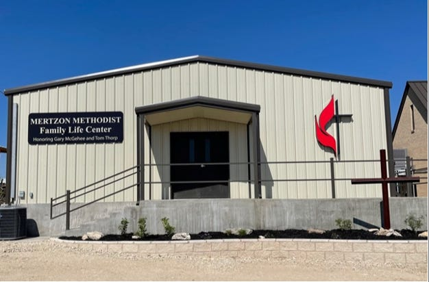 The Mertzon Methodist Family Life Center will have a dedication ceremony to mark its opening Sunday, May 16, 2021.