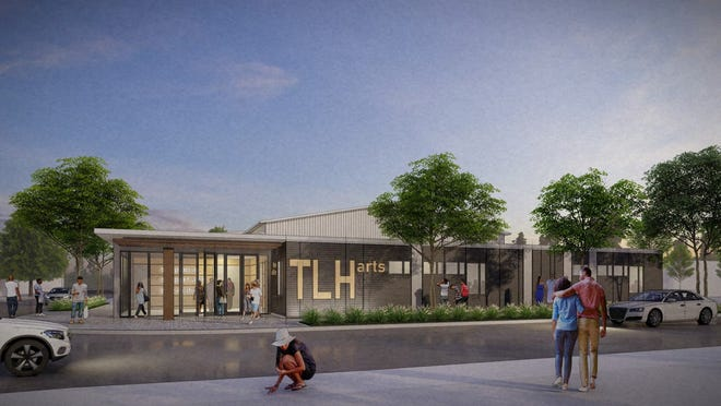 A rendering of the proposed TLH Arts performing arts center in Railroad Square