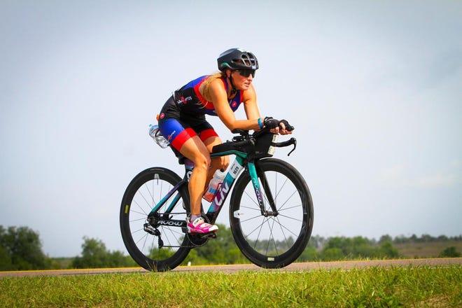 Local triathlete Tina Bahmer.