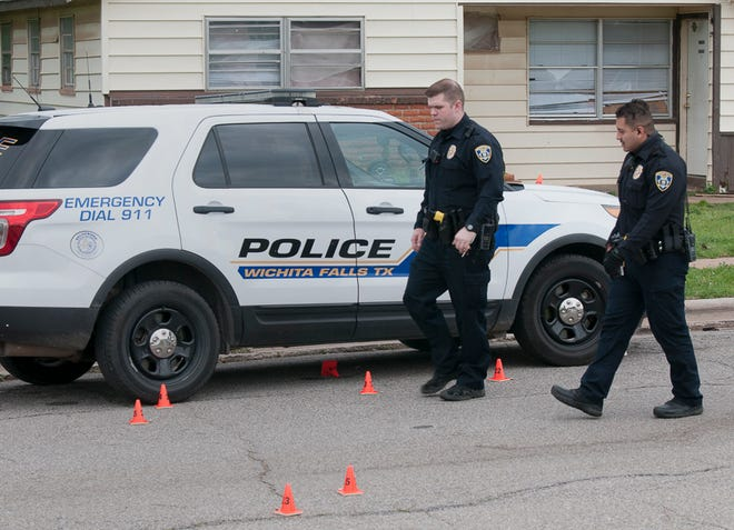 Wichita Falls Police worked the scene of a shooting Wednesday night in the 2800 block of Roanoke Drive. One person was injured during the shooting.