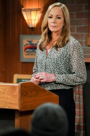 """Bonnie (Allison Janney) delivers an emotional speech, along with a couple of good laugh lines, to close the eight-season run of CBS' """"Mom."""""""