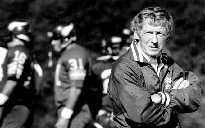 The Minnesota Vikings reached the playoff three times in Jerry Burns' six seasons as head coach.