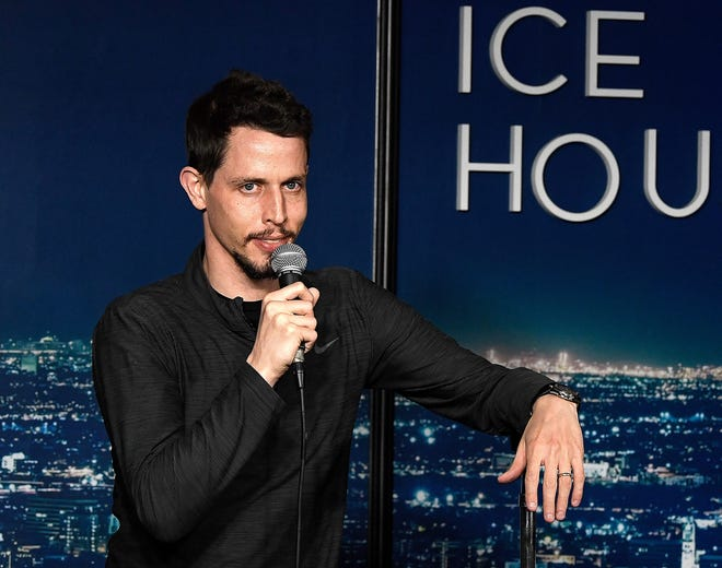Comedian Tony Hinchcliffe performs during his appearance at The Ice House Comedy Club on March 15, 2019 in Pasadena, Calif.