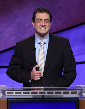 """Athens attorney Paul Trifiletti, a five-time winner on """"Jeopardy!"""" last year, is back for the show's Tournament of Champions. He will appear on Wednesday's episode."""