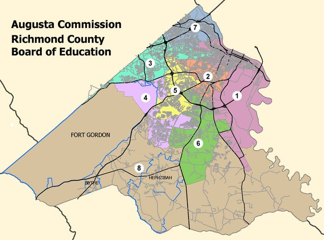 The current Augusta Commission and Richmond County Board of Education district lines are likely to change when lawmakers take up the redistricting process in the fall.