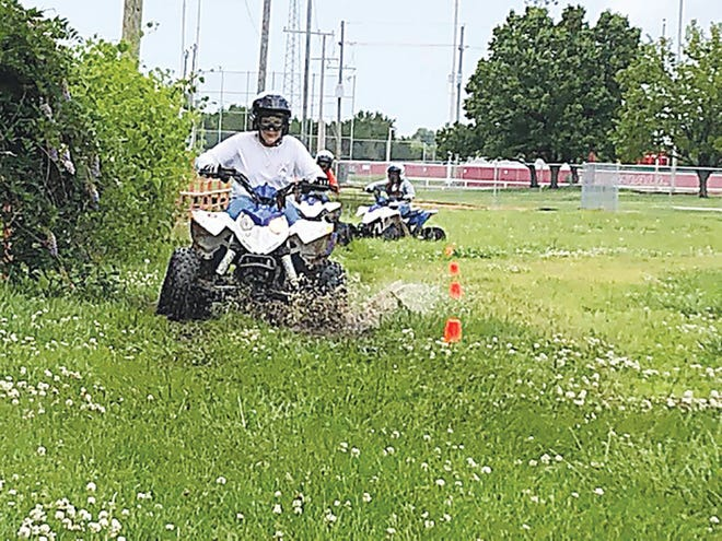 Class participant Travis Dick rides the course during the 2019 Youth ATV Rider and Safety class offered by the OSU Extension Office.