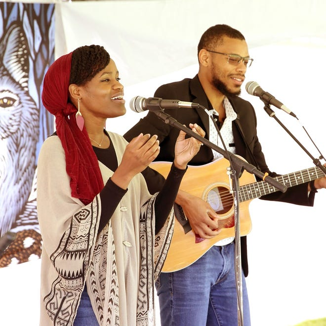 Chris and Rose, also known as Starlit Ways, perform at a previous event.