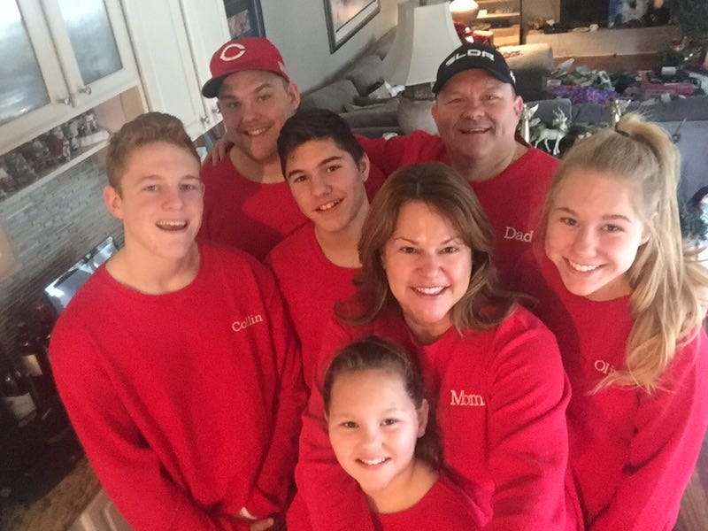 The Wiant family –– (from left) Collin , Austin, Aidan, Kathleen, Ava, Wade and Olivia.