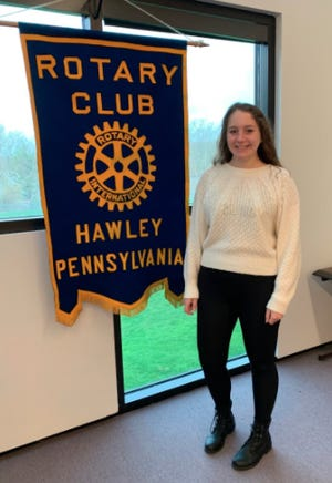 Mikayla Zink is the third quarter Volunteers inPaupackSpotlight Student being honored by Hawley Rotary Club.