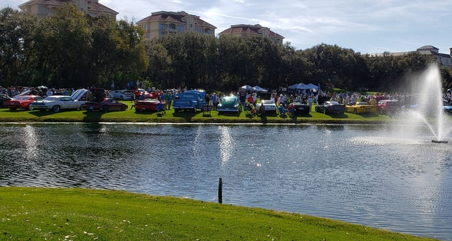 Last year's Cars and Coffee at the Concours saw cars and trucks of all ages and styles arrayed on the Golf Club at Amelia Island fairways.