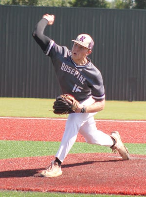 Rosepine junior Ethan Frey struck out 12 Doyle batters, while Logan Calcote scored the lone run in the sixth as the Eagles beat the Tigers, 1-0, in the Class 2A state championship game on Friday in Sulphur.