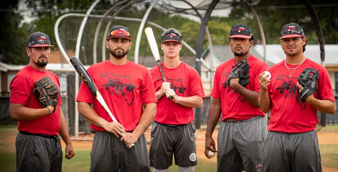 From left, Southeastern's Ryan Munoz, Nick Bottari, Carter Bridge, D.J. Roberts and Christian Comacho lead the Fire into the NAIA Tournament, which opens Monday in Winter Haven.