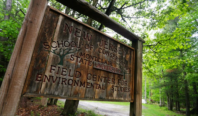 New Jersey School of Conservation sign Thursday, May 23, 2019, in Sandyston.