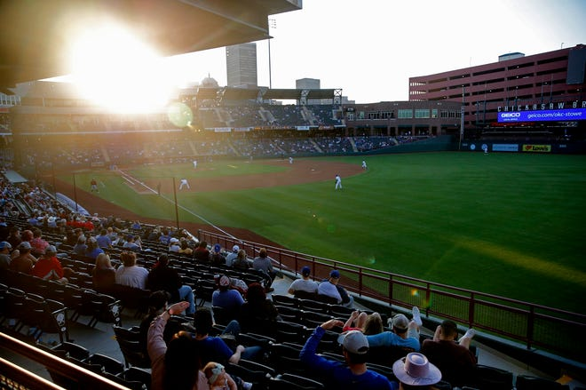Fans watch a May 13 minor league baseball game between the Oklahoma City Dodgers and the Sacramento River Cats at the Chickasaw Bricktown Ballpark. The Dodgers on Wednesday announced they have canceled a taco festival that was scheduled for Saturday at the ballpark after hearing complaints about the promoter's events in other cities.