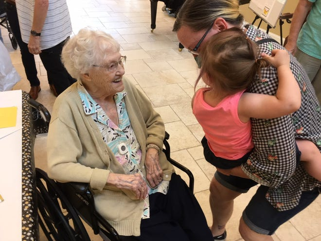 Ruby Cherry was born in St. Paul, Minnesota, and now lives in Ocala. She turned 100 this week.