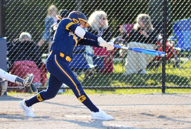 Gaylord's Jayden Jones had a 4-for-4 game at the plate that came with a pair of triples, then also pitched a shutout to help lead the Blue Devils to a BNC sweep over Alpena.