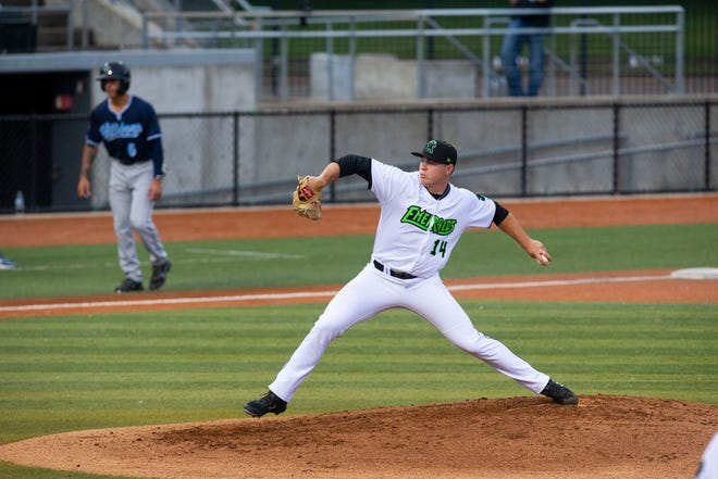 Eugene Emeralds pitcher Seth Corry, seen here in May, picked up this third win of the season Tuesday in Eugene's 9-3 home win over Everett.