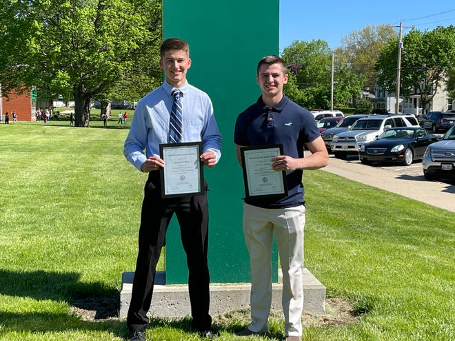 The Illinois Student Assistance Commission has announced 2020-2021 Illinois State Scholars from Wethersfield High School are Benjamin Smith, left, and Colton Stauffer.