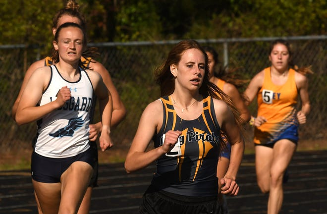 Topsail's Kaitlyn Obremski, here during track season in May, aims for a third consecutive All-Area Runner of the Year award this fall. [KEN BLEVINS/STARNEWS]