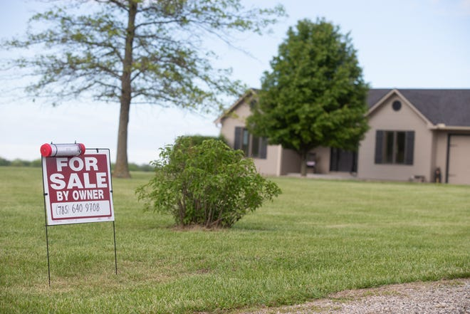A shortage of homes for sale in Shawnee County has led to a median of those listed in April to be on the market for only two days. A for-sale sign on this home, listed by its owner in north Shawnee County, offers passersby a chance to view the property.
