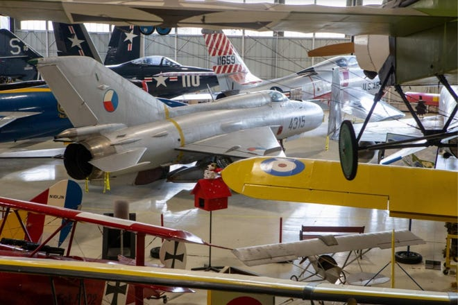 """Topeka's Combat Air Museum plans to hold pancake feed and """"Taps Across America"""" events on May 22 and 31."""
