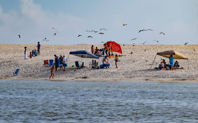 Recent work at St. Andrews State Park has dramatically changed the look of the area around the jetties. The beach areas near the jetties are larger and offer more room for visitors.
