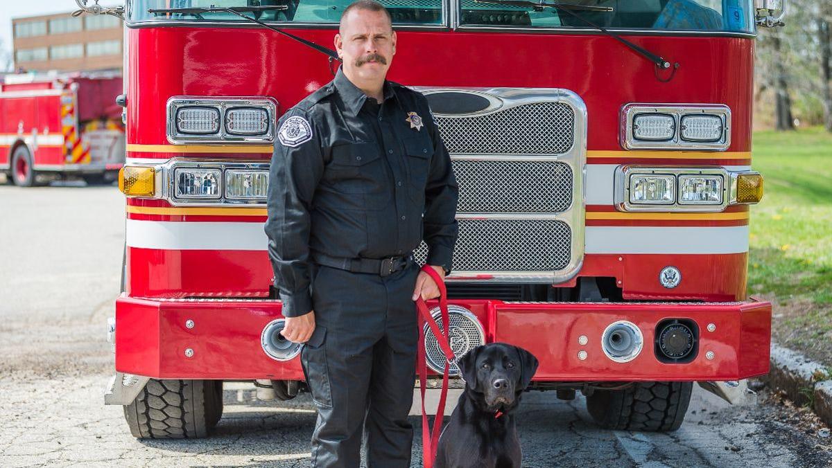 Firebugs beware: Dinty the dog joins San Bernardino County Fire's arson team
