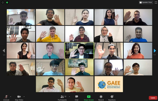 Pictured is a Zoom meeting of GAEE's student leaders.